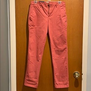 Gap dusty rose colored pants